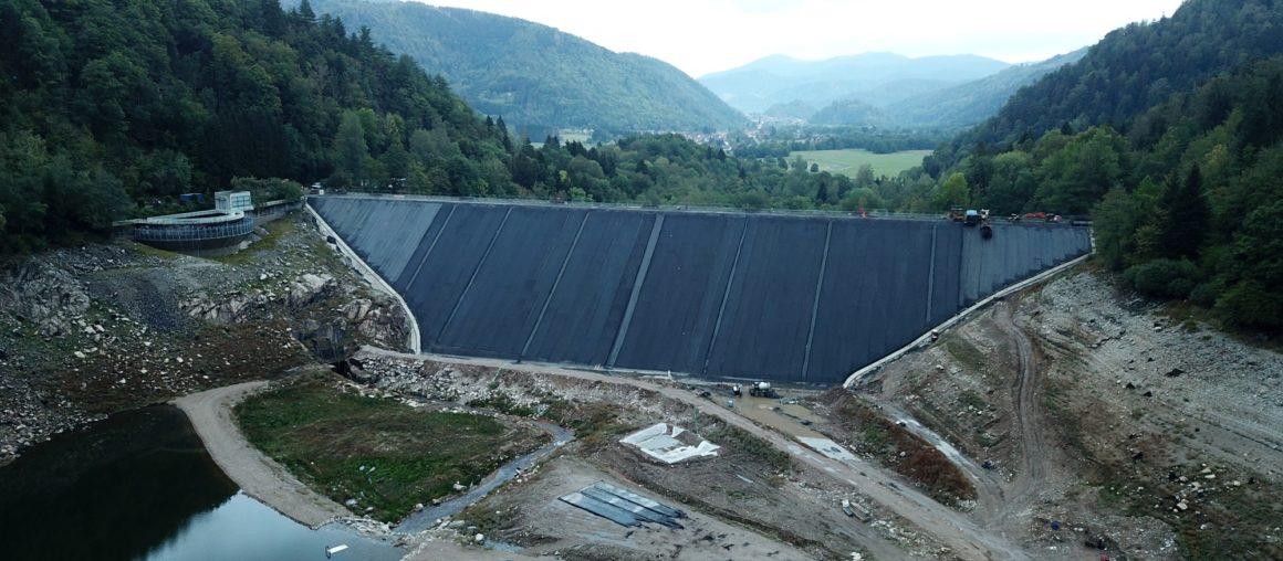 Les travaux du barrage de Kruth-Wildenstein arrivent bientôt à terme